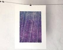 Rain // 09 - Original Linocut Print - OOAK - 30x45 cm // Open Edition // Numbered Series