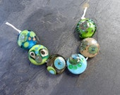 Mod Dot Minis - SRA handmade glass lampwork beads Lori&Kim