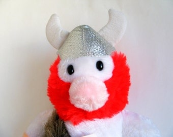 Vintage Viking Hagar the Horrible Large Stuffed Doll Toy by Etone 1980s Toys Kids Toys Comic Character Viking Helmet Red Beard