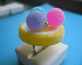 Lemon  Sugar Frosted Gumdrop Ring