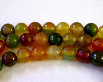 Indian Agate Beads 10mm (38)