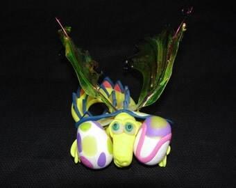 Easter Dragon - OOAK ELEMENTAL DRAGONS