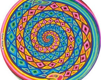 Cosmic Circle, Spiral, Snakes, Mystical, Car decor, Window Cling, Divine Feminine, Serpent, Pagan, Kara Rane, EcoFriendly, Vinyl Sticker Art