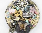 Half Off Sale Hand Mirror - Repurposed Jewelry - Mother's Memories