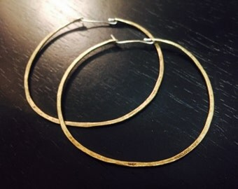 Large Brass forged hoops