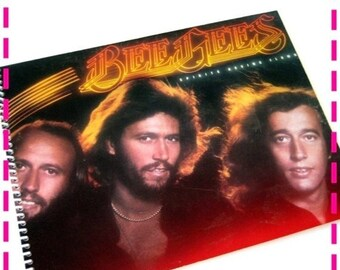 SALE 40% OFF--- Record Album Journal BEE Gees' Spirits Having Flown Retro Record Album Cover Notebook, Barry, Robin, Maurice Gibb, Vintage C