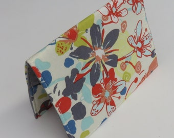 Sale / Clearance - READY TO SHIP - Passport Holder Cover Case Cruise Holiday Travel Holder - Tundra Flower - Botanica by Felicity Miller