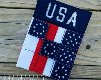 Tic Tac Toe Travel Set - Patriotic