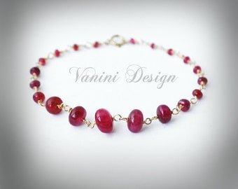 Ruby & Gold bracelet