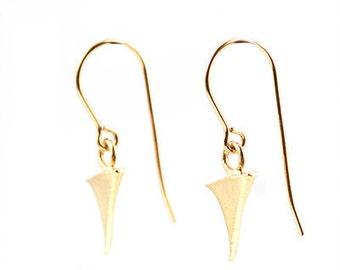 Gold Rose Thorn Earrings