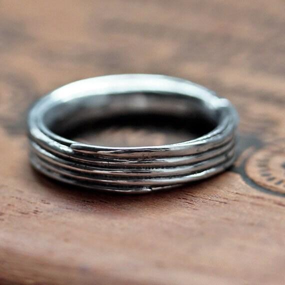 Mens Silver Wedding Band Mens Silver Ring Mens Wedding Ring