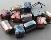 Raku Bead Mix Of Eleven