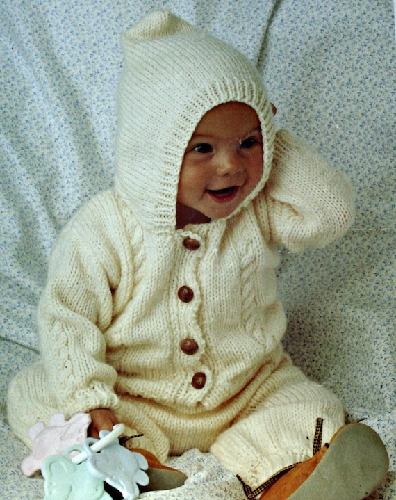 Peter Pan Baby Knitting Patterns : Baby Knitting Patterns Jacket Pants Mittens Peter Pan P725