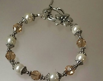 Cream and Topaz Renaissance Bracelet