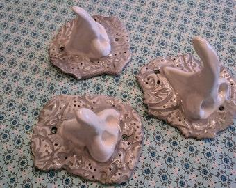 Whimsical handmade Towel hooks