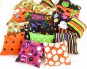 25 Halloween Bean Bags - Halloween Party Favor Game - Trick or Treat Candy Alternative - Classroom School Preschooler Toddler Toy