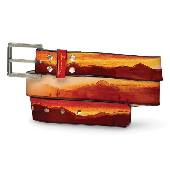 Showdown Leather Belt, Mens Belt, Womens Belt, Mens Leather Belt, Womens Leather Belt, Handmade Leather Belt, Mountain Belt