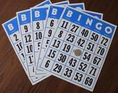 "Lot of Five Oversized 8"" x 10"" Vintage Bingo Cards"