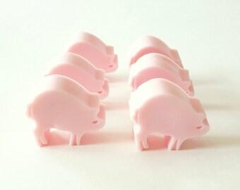 Little Piggy Soap Set, Pink Guest Size Soap, Pig Soap Favor, Kid Soap, Farm Soap, Fun Children Soap, 6 Little Pigs, Animal Soap, Wilbur Soap