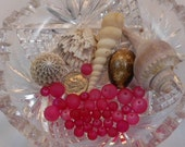 Raspberry Sea Glass Mix Smooth Round Frosted Bead 6mm, 8mm, 10mm (Qty 36) PH-SGMIX-RASP