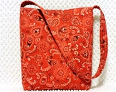 Western Purse - Southwestern Bag - Paisley Western Wear Bag - Red and Black - Shoulder Bag - Hobo Bag Purse - Handmade Handbag, Ladies Gift