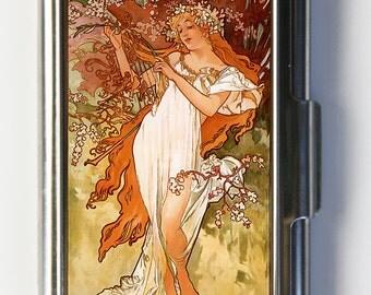 Art Nouveau Business Card Holder Card Case mucha Spring
