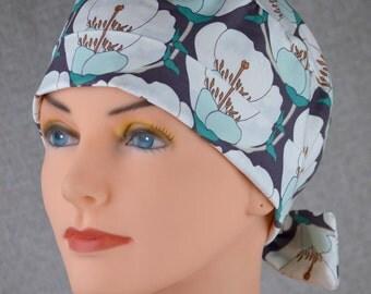 Scrub Hats // Scrub Caps // Scrub Hats for Women // The Hat Cottage // The Mini // Fabric Ties // Nesting Blooms