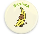 Cute Pinback Button Banana Cat Funny Magnet Kawaii Pin Gift Idea Cute Cat Pin Fruit Cats