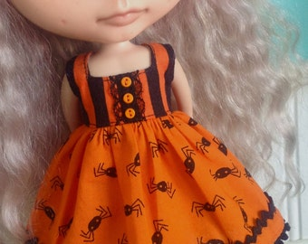 Dress for Blythe - Spooky Spiders - Halloween