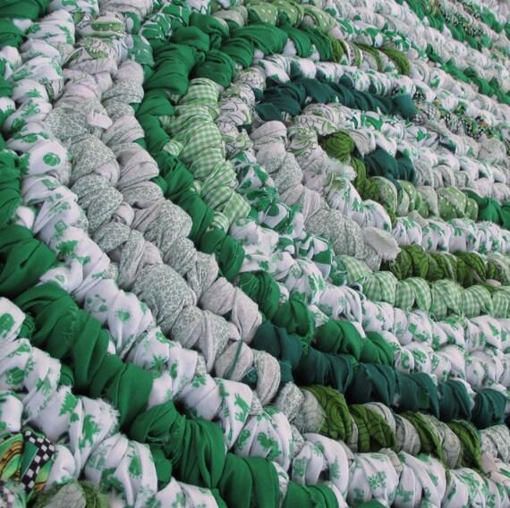 Rag Rug Emerald Green Clover Bath Mat By ThankfulRoseHome