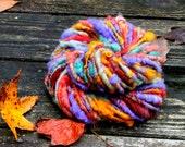 Handspun Art Yarn- Autumn Bouquet- Signature Jazztutle TextureSpun Artisan Yarn