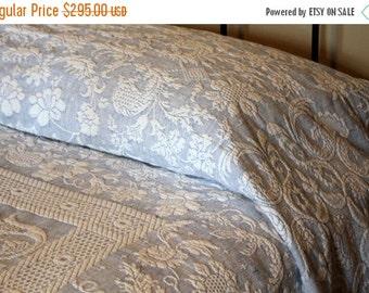 Bedding Sale Blue Matelass 233 Blanket W Fringe Bates