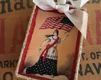 Shadow Box Ornament - Patriotic