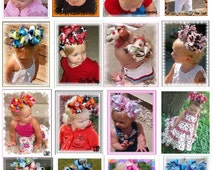 HUGE SALE Make Boutique Hair Bows Instructions PDF Emailed Guide Baby Girl Head Bands Bow Bands Clips Charms E Book Pattern Guide how to