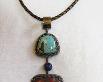 Sonora Sunrise and Turquoise Necklace.(191)