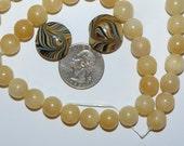 Aragonite and Lampwork Beads Necklace Kit #kit8