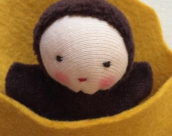 Waldorf doll, Waldorf pocket baby, Steiner doll, root child