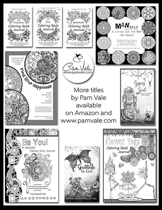 Digital Download 12 Step Recovery Coloring Book Journal