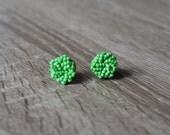 Kelly Green Earrings - Green stud earrings