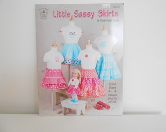 Little Sassy Skirts Sewing Book by Cindy Taylor Oates, Doll and Girl Skirt Pattern