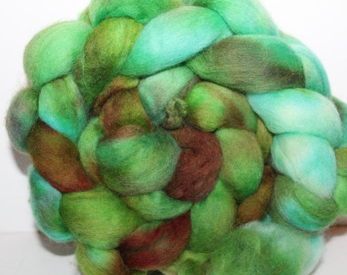 Kette Dyed Polwarth wool top. Roving. Spin. Felt. Super Soft. 4oz FREE SHIP #P24