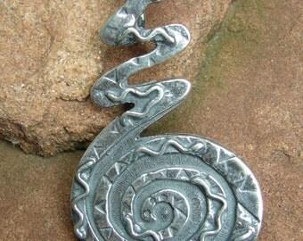 Sterling Silver Snake Charm Pendant