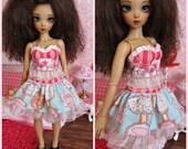MiniFee Dress Set Candy Stripe by Tickled Pink by Julie