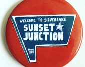 Sunset Junction Silver Lake Los Angeles Themed Magnet