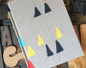 Fabric Journal Arrowhead Pattern - Large Unlined
