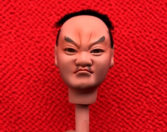Japanese Doll Head - Hina Matsuri - Japanese Doll Festival - Boy Head - Man's Head - Vintage Doll Head D11-42 Small