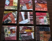 Autumn colored Crazy Crumb quilt block bundles