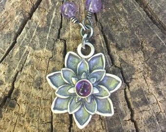 Crown Chakra Lotus Necklace Made To Order