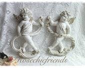 Angel, Cherubs Set Wall Decor Hanging Shabby French Chic ecs Svfteam