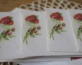 Vintage rose bouquet  mailing envelopes